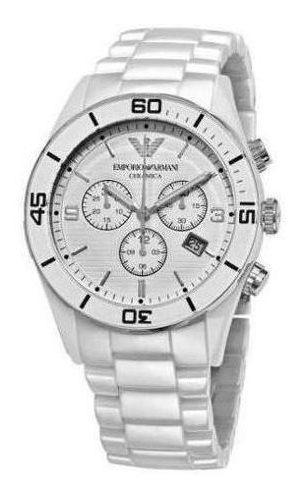 Relógio Empório Armani Ar1424 Cerâmica Branca Original Promo