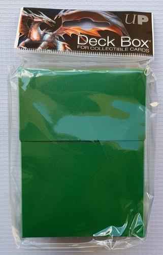 Ultra Pro Deck Box Color Solido Verde Bosque - Forest Green
