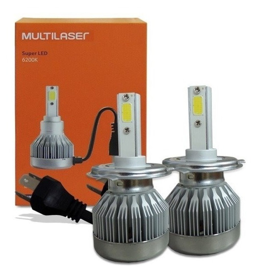 Lampada Super Led H4 20w 6200k 2000lm Multilaser Au834