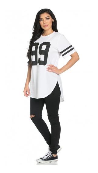 Camisa Blusa Feminina Para Academia Long Line , Swag,