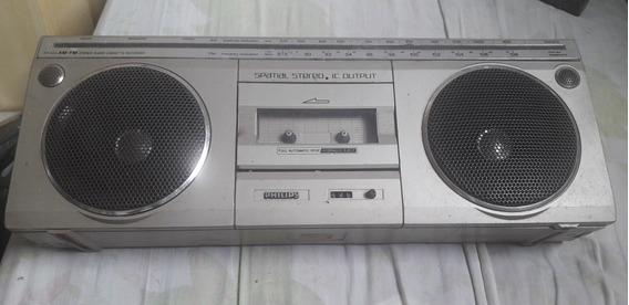 Rádio Gravador Antigo Philips Ar 420 Toca Fitas Am Fm