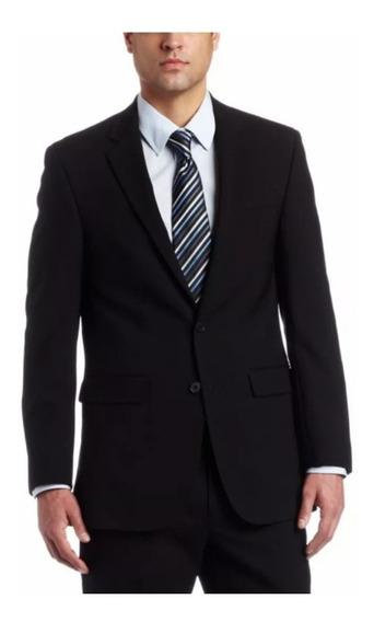 Saco De Hombre Sport De Vestir Tropical Mecánico Negro