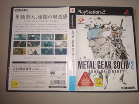 Jogo Ps2 Original - Metal Gear Solid 2 Sons Of Liberty Jap