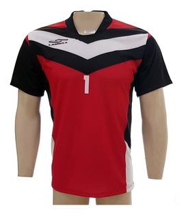 Camisa Goleiro Lambra Asteca Pto/vrm Mc Adulto