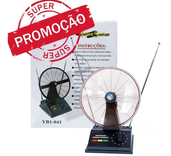 Antena Com Parábola Para Tv Vhf Uhf Digital Analógica Vinik