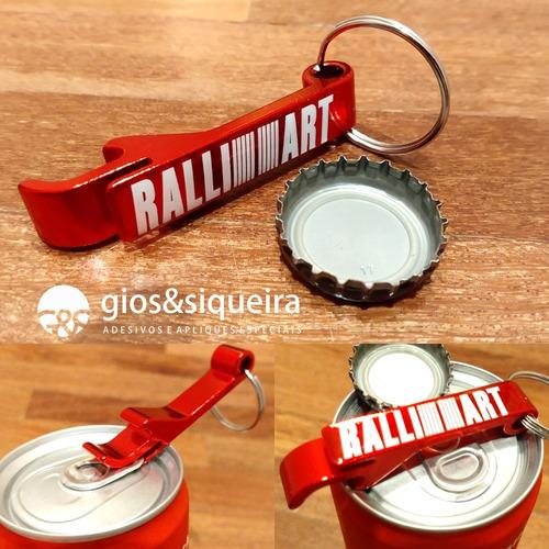 Imagem 1 de 4 de Chaveiro Ralliart Alumínio Vermelho