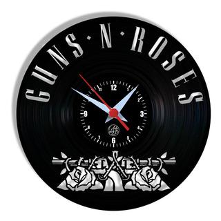 Relógio De Parede Vinil - Guns N Roses Rock Banda