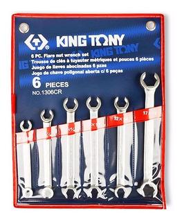 Jogo De Chave Estrela Aberta (cano Freio) 1306cr King Tony