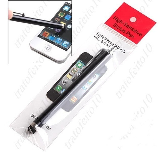 Caneta Stylos P/iPad/iPhone/iPod/tabletes-verde/preta/prata/