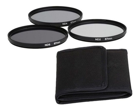 Kit De Filtro Nd2 + Nd4 + Nd8 + Case 67mm Nikon Sony Canon