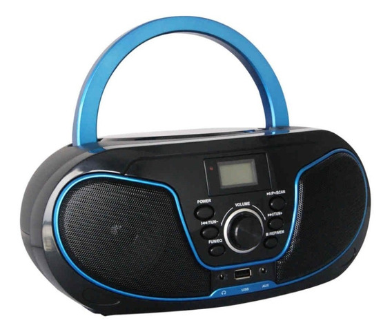 Rádio Bluelife Boombox Bluetooth 3.0 Usb Sd Aux Cd Leadershi