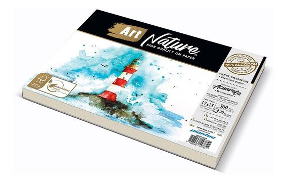 Hojas Block Acuarela Art Nature Premium 17x25cm 35% Algodon