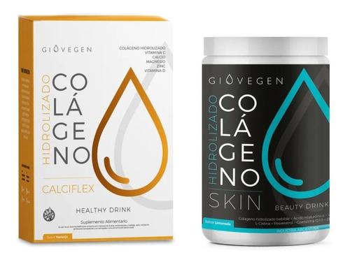 Giovegen Skin + Calciflex - Colágeno Hidrolizado Bebible