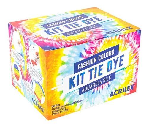 Kit Tie Dye Aquarela Silk Tay Day Fashion Com 7 Itens