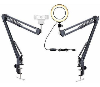 Acetaken Webcam Light Stand, 6 Ring With
