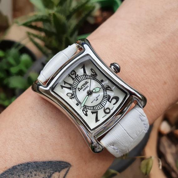 Relógio Feminino Activa Madrepérola Branco Swiss Movt