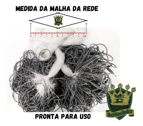 Imagem 1 de 8 de Rede Pesca Pronta Malha 10 F0,30 4,80 Alt 50 Metros Promoção