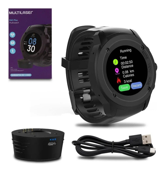 Relógio Bluetooth Plus Gps Touch Screen P9080 Multilaser