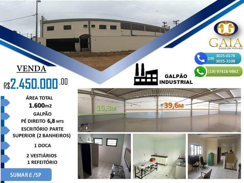Galpão À Venda, 840 M² Por R$ 2.450.000 - Jardim Dall'orto - Sumaré/sp - Ga0063