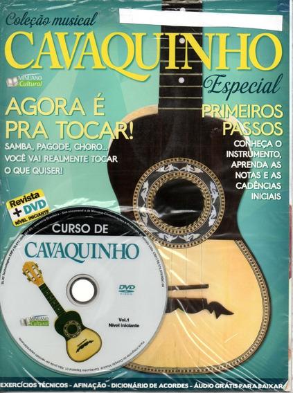 Curso De Cavaquinho Vol.1 - Nível Iniciante - Revista+dvd