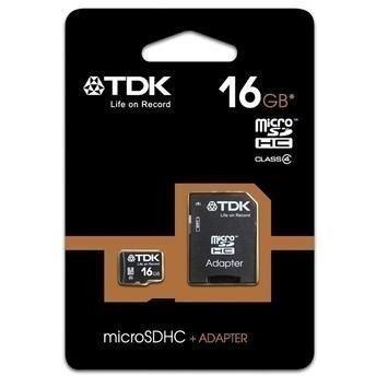 Cartão De Memoria 16gb Tdk Classe 4 Micro Sd Box *frete G*