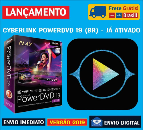 Cyberlink Power Dvd 19 Ultra Em Português / Envio Digital - R$ 18,00