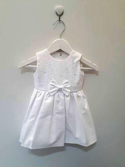 Vestido Infantil Pingo Doce Branco Para Bebê