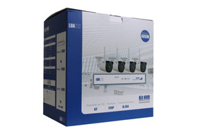 Kit Nvr 4 Câmera Segurança Wireless Wifi S/fio Empresas Casa