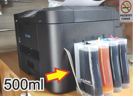 Multifuncional Canon 2710 C/ Bulk Ink 500ml, Top De Linha
