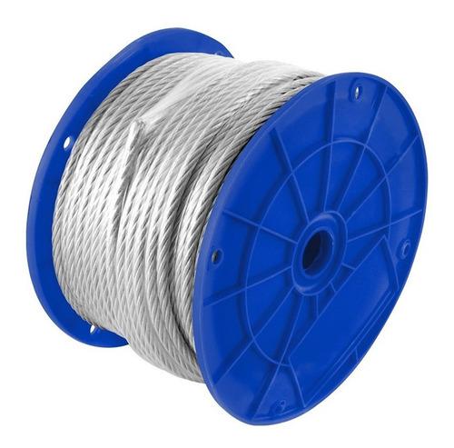 Cable Acero 7x7 Hilos 1/8 X 3/16x 75m Cubierto Pvc Toolcraft