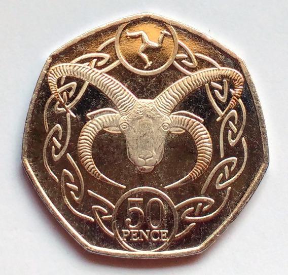 Moneda De Isla De Man, 50 Pence 2017. Sin Circular.