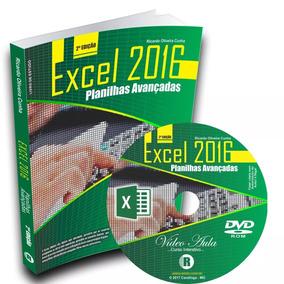 Livro + Dvd De Curso Do Excel 2016 - Planilha Eletrônica