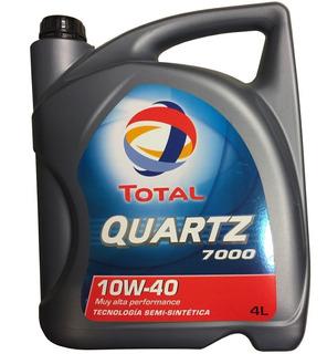 Aceite Total Quartz 7000 Diesel Nafta Semisintetico 10w40 4l