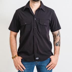 Camisa Workshirt Fallon Preta Confortável E Fresco.