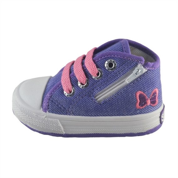 Botita Bebe Jean Lila Con Cierre Small Shoes