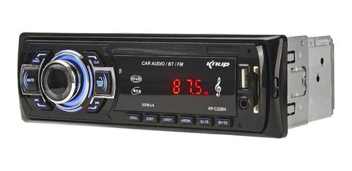 Som automotivo Knup KP-C22BH com USB, bluetooth e leitor de cartão SD