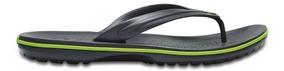 Sandalia Crocs Caballero Crocband Flip Gris/verde