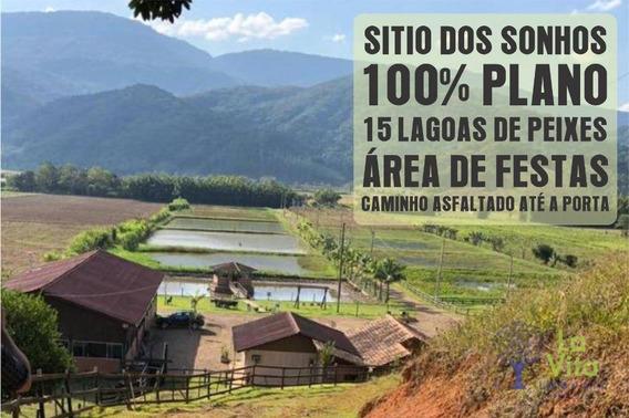 Sitio Em Ascurra - Espetacular - 15 Lagoas De Peixes - Totalmente Plano - Si0033