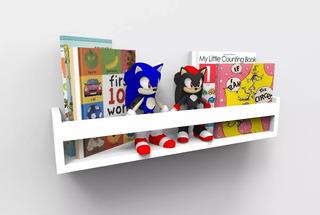 Prateleira Para Livros Infantil Quarto Montessoriano 40cm
