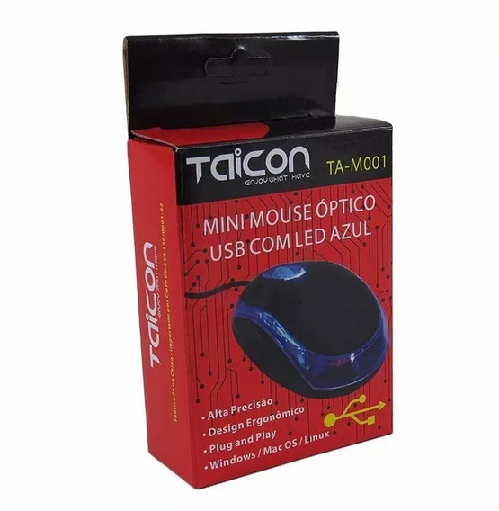 Mouse Taicon Com Fio - Preto