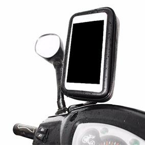 Suporte Celular Smartphone Gps Moto Universal Retrovisor
