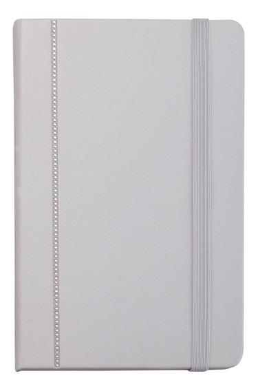 Caderno Swarovski Cinza Claro - Cor Branco
