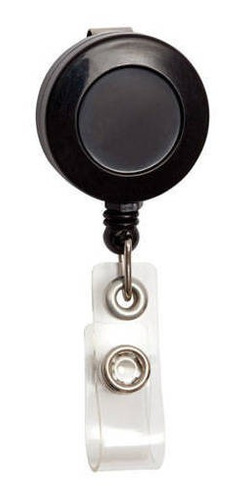 Portacredencial Extensible-retráctil Con Clip Negro