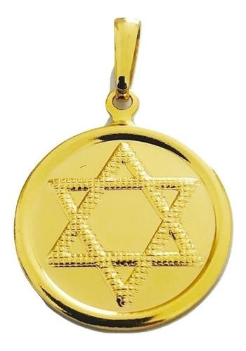 Pingente Rellicari Estrela De Davi Banhado A Ouro R002
