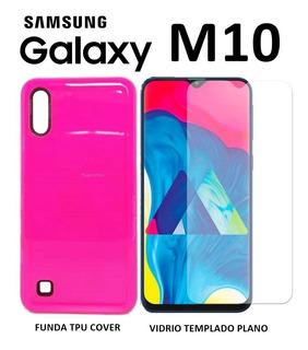 Funda Rigida + Templado Plano Samsung Galaxy M10 Rosario