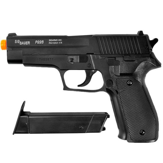 Pistola De Airsoft Spring Sig Sauer P226 Slide Metal 6mm - Cybergun