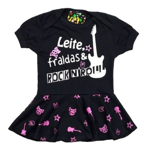 Body Infantil Vestido Rock Bcr02