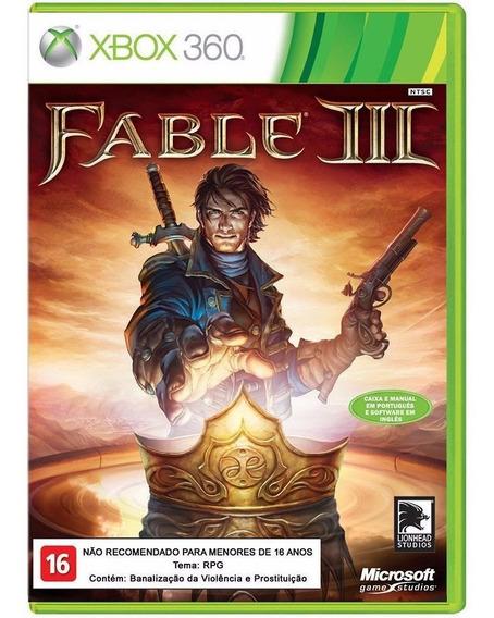 Fable 3 Xbox 360 Jogo Original Completo Mídia Física