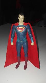 Juguete Antiguo De Goma Superman 15 Centímetros
