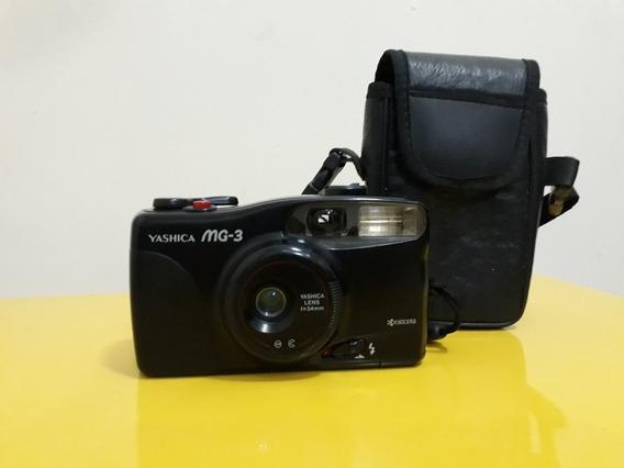 Câmera Fotográfica Antiga Yashica Mg3 Analógica Com Case